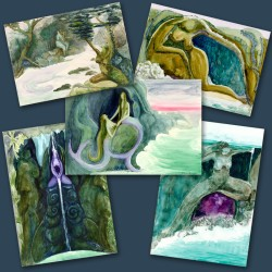 5-pack of Phillipa Bower Greetings Cards