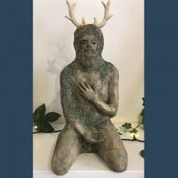 Small Green Man with Antlers