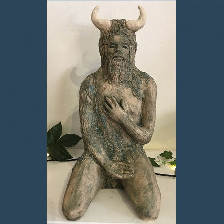 Small Green Man with Horns